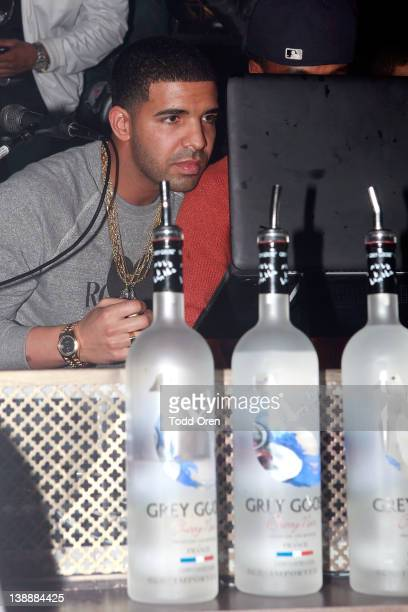 Hip Hop artist Drake hosts the Grey Goose, Grand Tactics & JL Nights The Take Care Grammy Party Hosted by Drake at Greystone Manor Supperclub on...