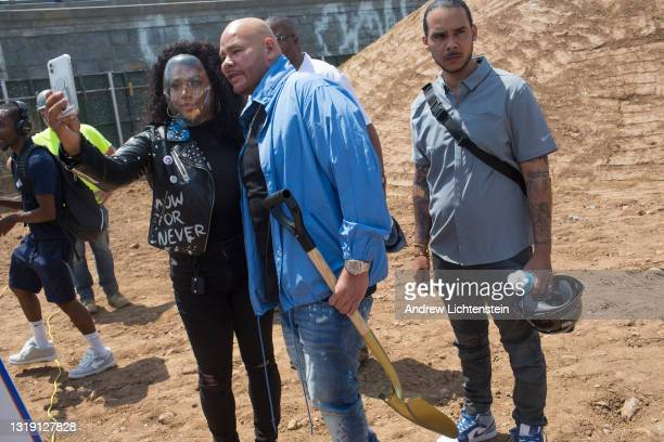 Hip Hop artist Fat Joe attends the ground breaking ceremony for the future Universal Hip Hop Museum on May 20, 2021 in the Bronx, New York.