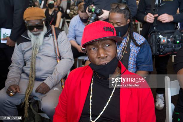 Hip Hop artist Grand Master Flash attends the ground breaking ceremony for the future Universal Hip Hop Museum on May 20, 2021 in the Bronx, New York.