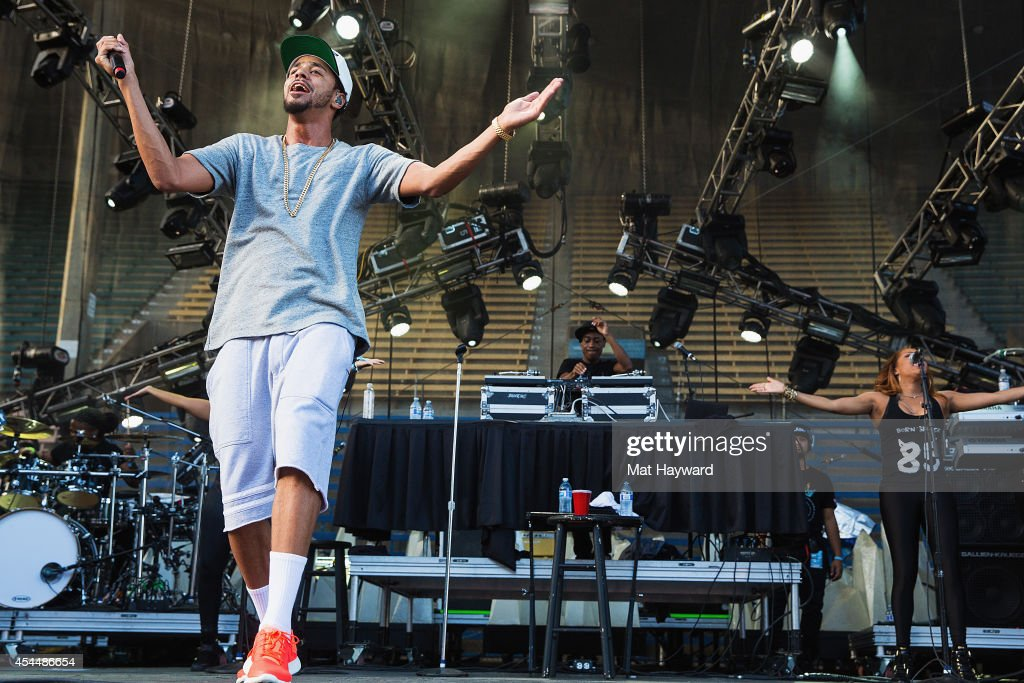 Hip hop artist J. Cole performs on the main stage during the Bumbershoot Music and Arts Festival on September 1, 2014 in Seattle, Washington.