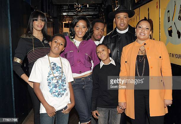 Hip hop artist Joseph Simmons aka Reverend Run and his family Vanessa Daniel aka Diggy Angela Jojo Russell aka Russy and Justine appear onstage...