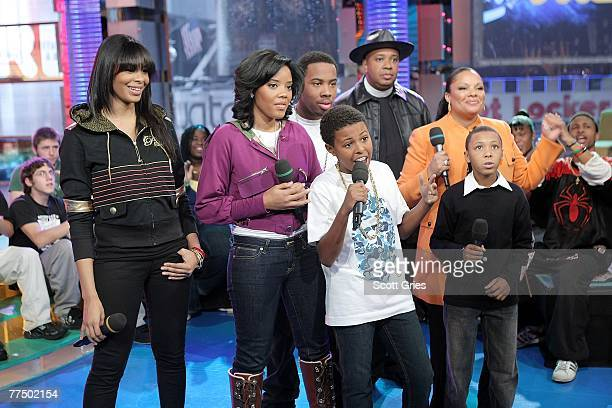 Hip hop artist Joseph Simmons aka Reverend Run and his family Vanessa Angela Jojo Daniel aka Diggy Justine and Russell aka Russy appear onstage...