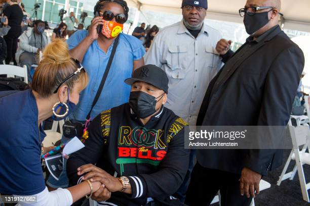 Hip Hop artist LL Cool J attends the ground breaking ceremony for the future Universal Hip Hop Museum on May 20, 2021 in the Bronx, New York.