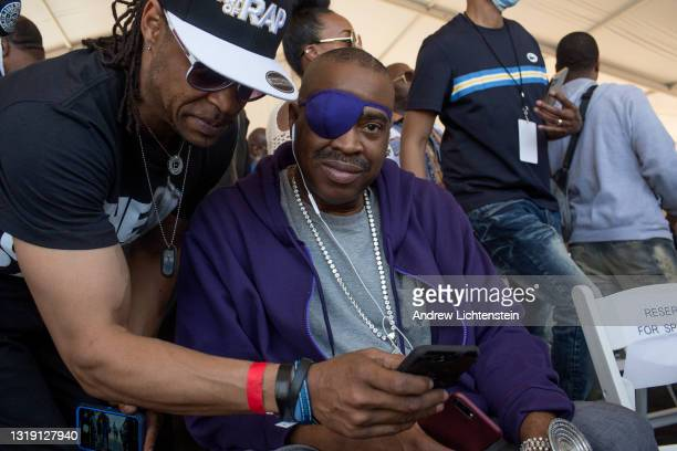 Hip Hop artist Slick Rick attends the ground breaking ceremony for the future Universal Hip Hop Museum on May 20, 2021 in the Bronx, New York.