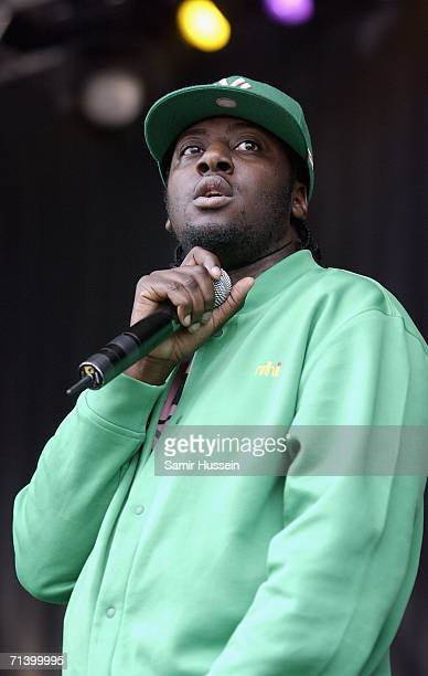 UK hip hop artist Sway performs live at Rise London United an antiracist festival to celebrate the London's diversity on July 8 2006 in London England