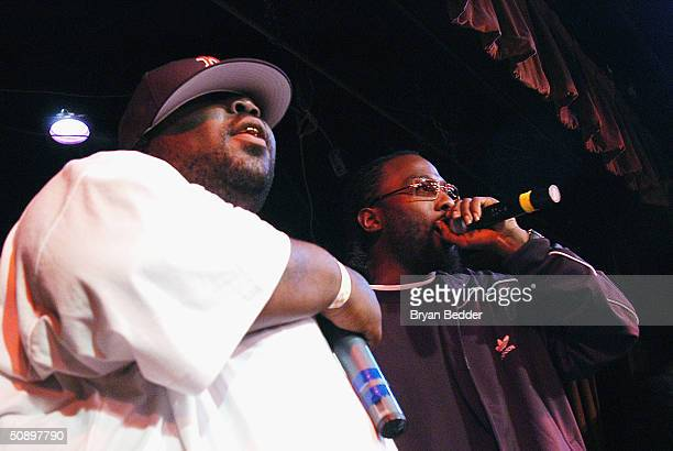 Hip Hop artists 8 Ball and MJG perform at the concert to raise awareness for LIFEbeats 'Hearts Voices' program on May 25 2004 in New York City