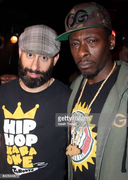 Hip Hop artists Abdominal and Pete Rock attend Hip Hop Karaoke 10th Anniversary Party at Revival Restaurant on February 17 2017 in Toronto Canada