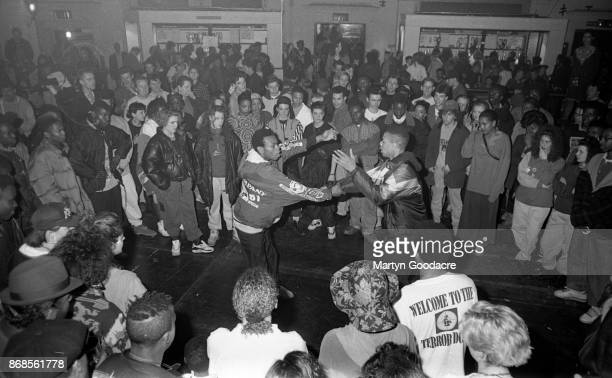 Hip Hop dancing at Brixton Academy, London, on a Saturday afternoon in 1990.