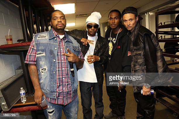 Hip Hop group Bone ThugsNHarmony backstage at BB King on October 27 2013 in New York City