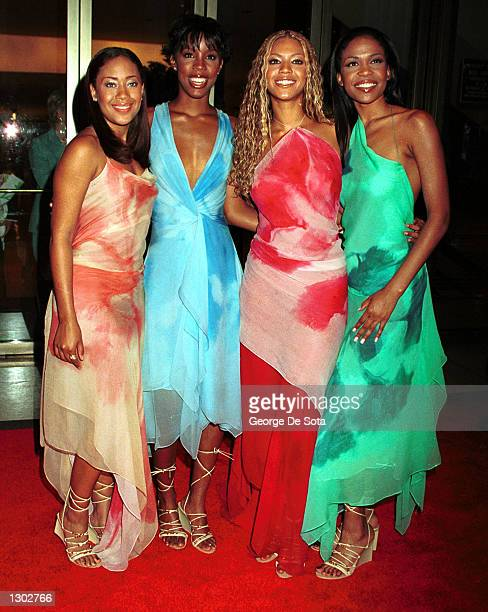 Hip Hop group Destiny''s Child attend The American Fashion Awards 2000 June 15 2000 at Avery Fisher Hall in New York City