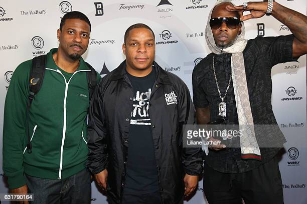 Hip Hop Group Naughty By Nature arrive at the TBoz Unplugged Benefit Concert at Avalon on January 15 2017 in Hollywood California