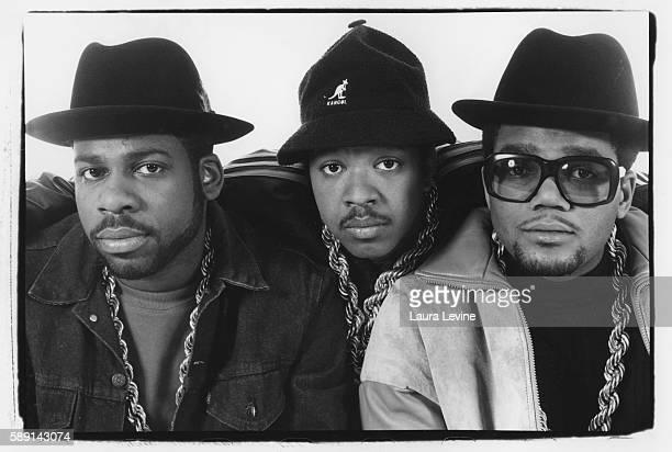 Jason 'JamMaster Jay' Mizell Joseph 'Rev Run' Simmons and Darryl 'DMC' McDaniels circa 1980