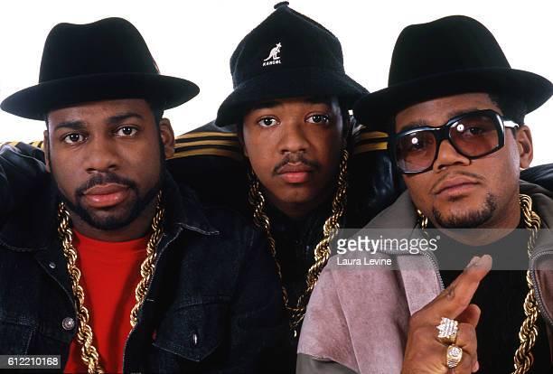 Hip hop group RunDMC Jason 'JamMaster Jay' Mizell Joseph 'Rev Run' Simmons and Darryl 'DMC' McDaniels circa 1980