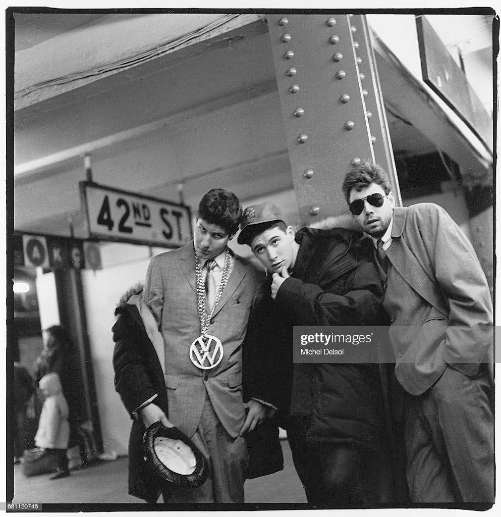 Beastie Boys In West 42nd Street / Times Square Subway Station. : News Photo
