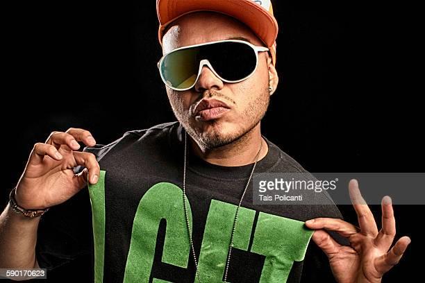 Hip hop guy posing