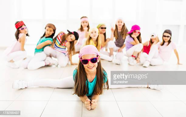 hip hop little dancers. - dance troupe stock photos and pictures
