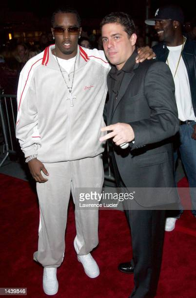 Hip hop mogul P Diddy and director Brett Ratner attend the premiere of 'Red Dragon' on September 30 2002 in New York City