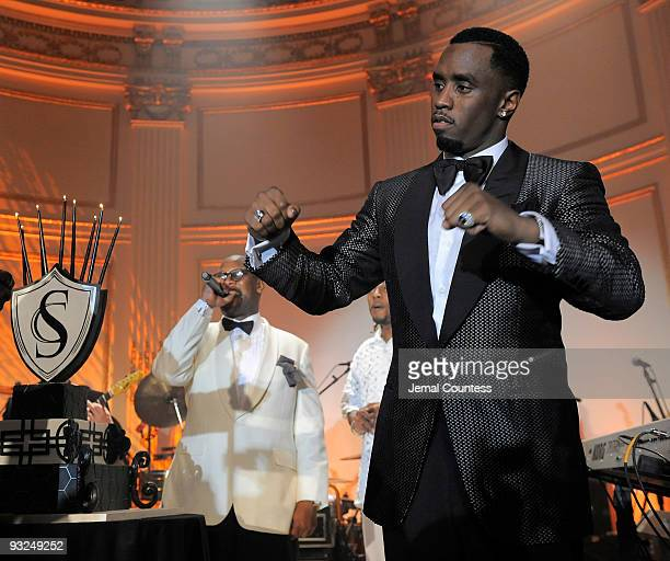 Hip Hop Mogul Sean Diddy Combs takes the stage during the Sean Diddy Combs' Birthday Celebration Presented by Ciroc Vodka at The Grand Ballroom at...