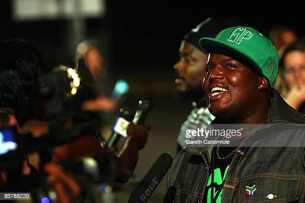 Hip Hop Pantsula aka HHP arrives for the MTV Africa Music Awards 2008 at the Abuja Velodrome on November 22, 2008 in Abuja, Nigeria.