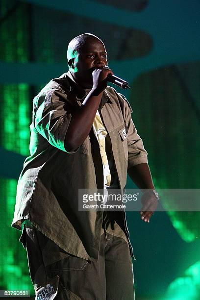 Hip Hop Pantsula, better known as HHP performs on stage at the MTV Africa Music Awards 2008 at the Abuja Velodrome on November 22, 2008 in Abuja,...