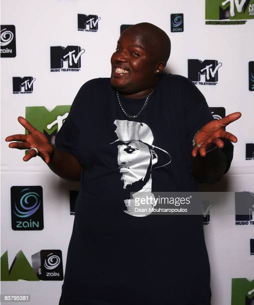 Hip Hop Pantsula, better known as HHP poses backstage at the MTV Africa Music Awards 2008 at the Abuja Velodrome on November 22, 2008 in Abuja,...