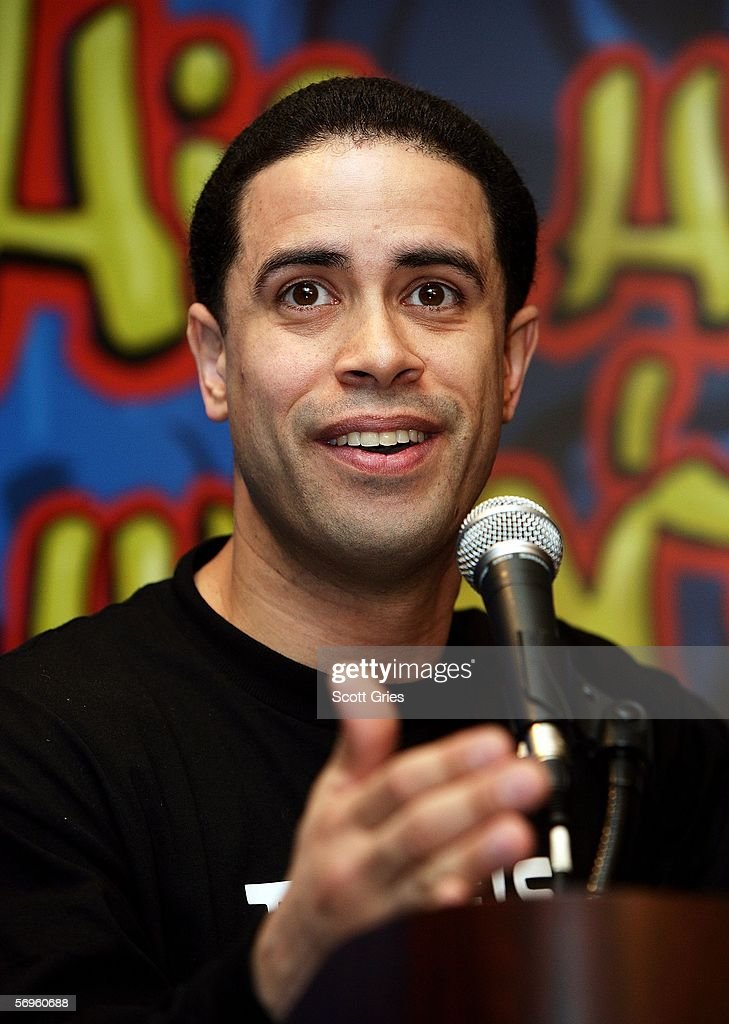 Hip hop pioneer Crazy Legs speaks during a press conference to announce the launch of The Smithsonian's 'Hip-Hop Won't Stop: The Beat, The Rhymes, The Life' at the Hilton Hotel February 28, 2006 in New York City.