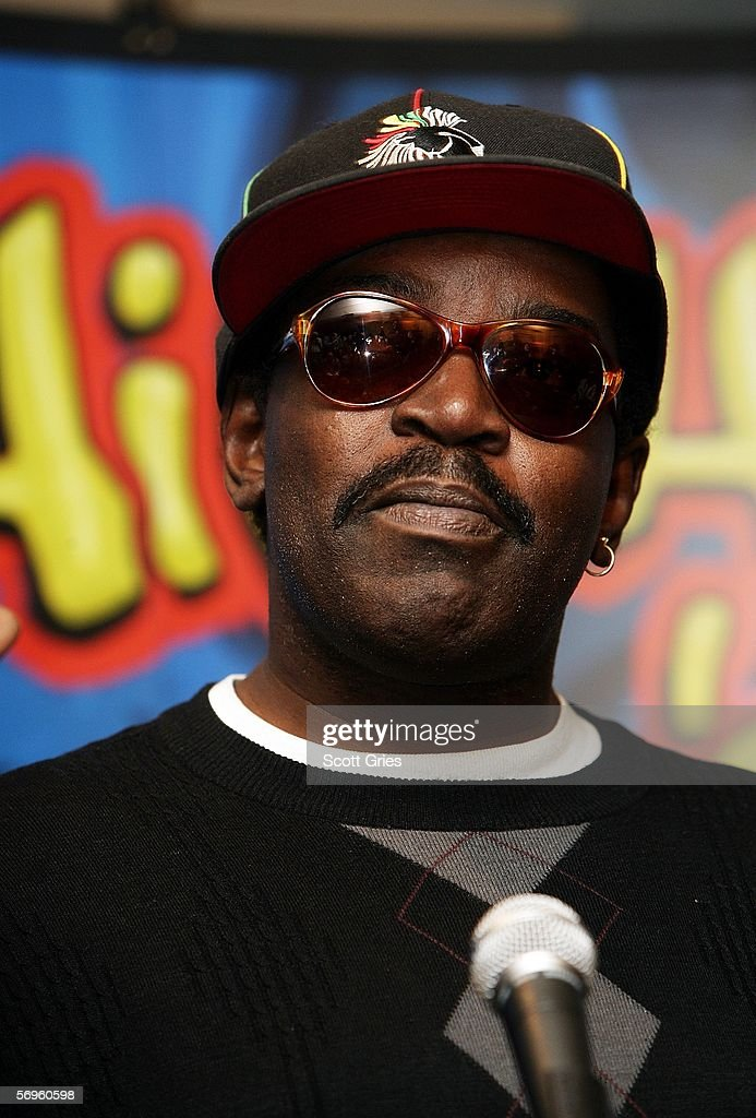 Hip hop pioneer Fab 5 Freddy speaks during a press conference to announce the launch of The Smithsonian's 'Hip-Hop Won't Stop: The Beat, The Rhymes, The Life' at the Hilton Hotel February 28, 2006 in New York City.