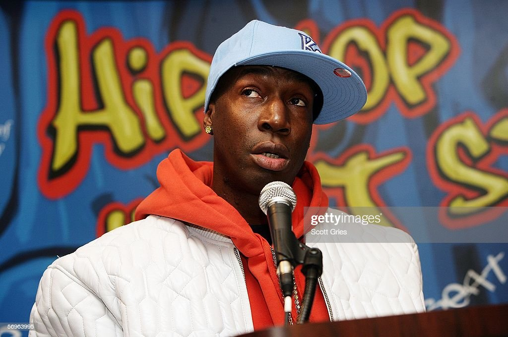 Hip hop pioneer Grandmaster Flash speaks during a press conference to announce the launch of The Smithsonian's 'Hip-Hop Won't Stop: The Beat, The Rhymes, The Life' at the Hilton Hotel February 28, 2006 in New York City.