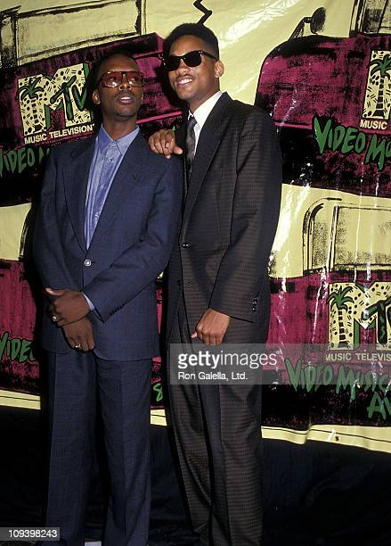 Hip hop producer DJ Jazzy Jeff and rapper Will Smith attend the Fifth Annual MTV Video Music Awards on September 7 1988 at the Universal Amphitheatre...