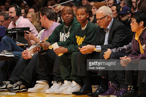 Hip Hop recording artist Birdman attends a game between the New Orleans Hornets and the Los Angeles Lakers in Game Two of the Western Conference...