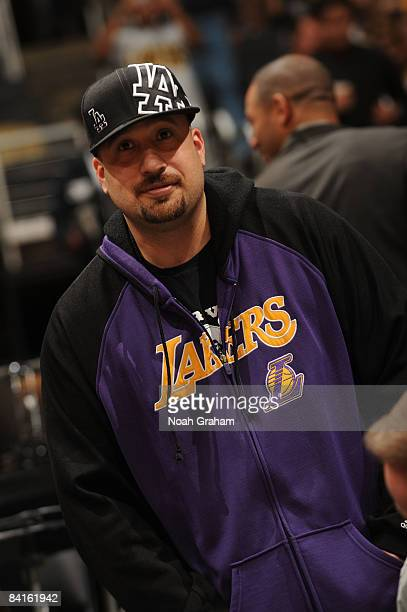 Hip Hop recording artist BReal of Cypress Hill attends a game between the Utah Jazz and the Los Angeles Lakers at Staples Center on January 2 2009 in...