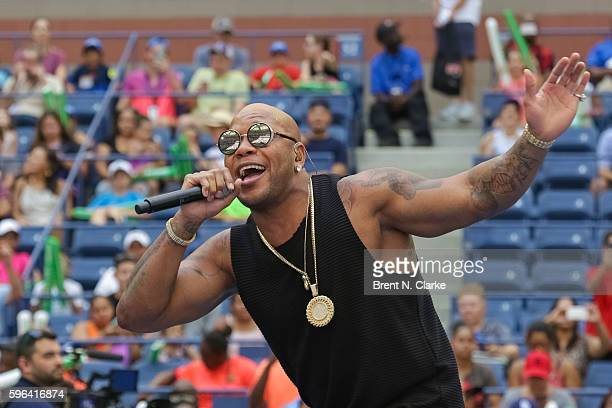 Hip Hop recording artist Flo Rida performs during the 2016 Arthur Ashe Kids' Day held at the USTA Billie Jean King National Tennis Center on August...