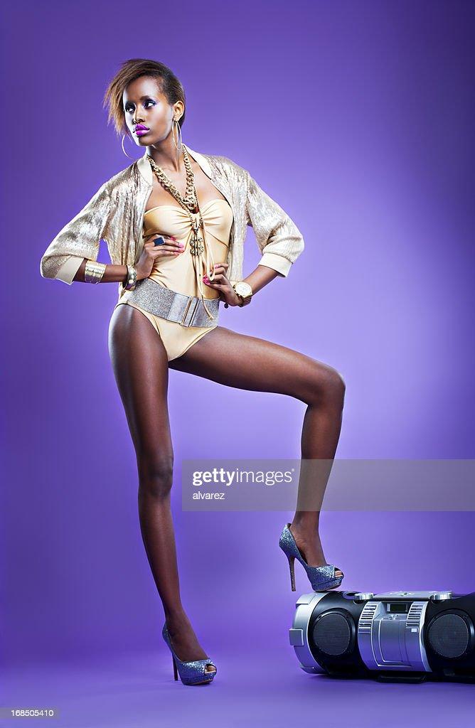 Hip Hop Sensual Woman : Stock Photo