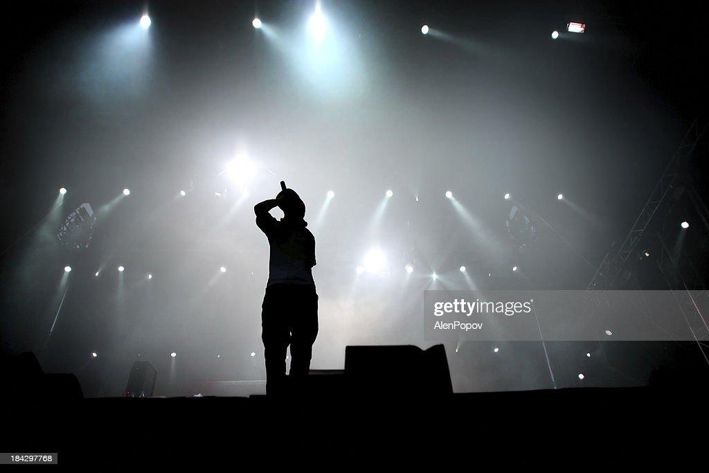 Hip hop singer : Stock Photo