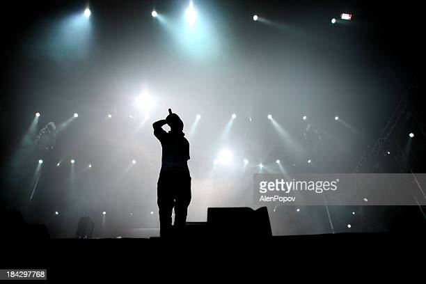 hip hop singer - hip hop music stock pictures, royalty-free photos & images
