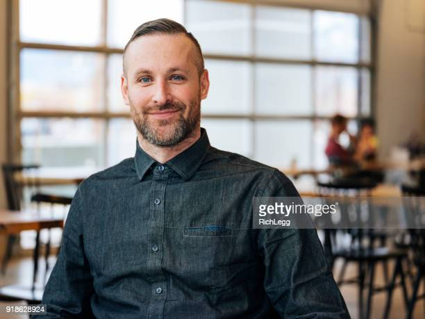 Hip Professional Portrait in a Coffee Shop