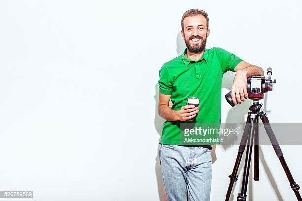 Hip young photographer