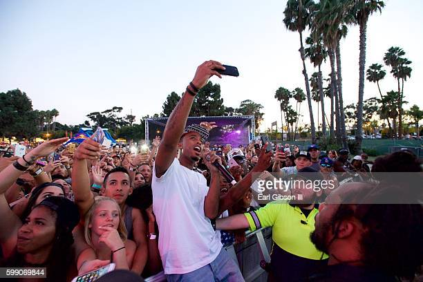 Hiphop artist BoB performs at the Queen Mary's WET Carnival on September 3 2016 in Long Beach California