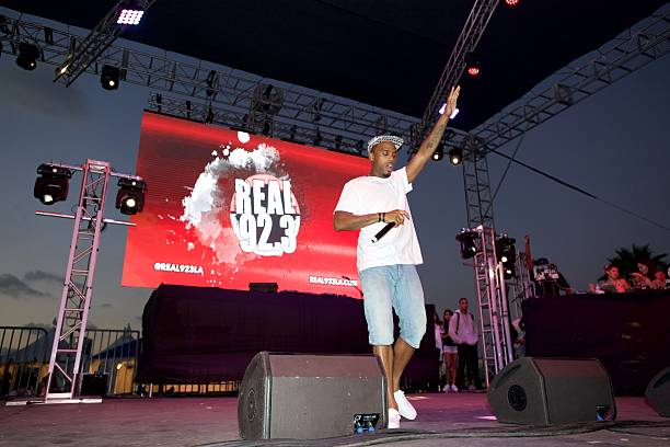 Hip Hop Artist B O Performs At The Queen Mary S Wet Carnival On September 3