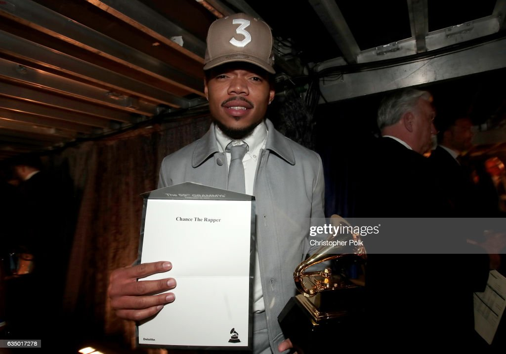 Hip-Hop Artist Chance The Rapper attends The 59th GRAMMY Awards at STAPLES Center on February 12, 2017 in Los Angeles, California.