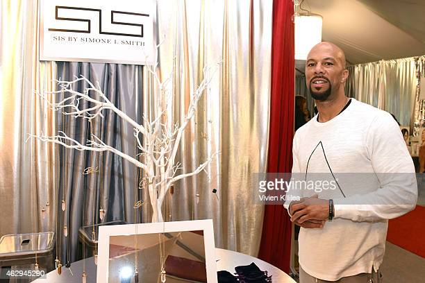 Hiphop artist Common attends the GRAMMY gift lounge during The 57th Annual GRAMMY Awards at the Staples Center on February 7 2015 in Los Angeles...