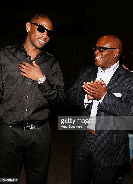 Hiphop artist Fabolous and music producer LA Reid attend a special screening of 'Loso's Way' at Tribeca Grand Hotel on July 27 2009 in New York City