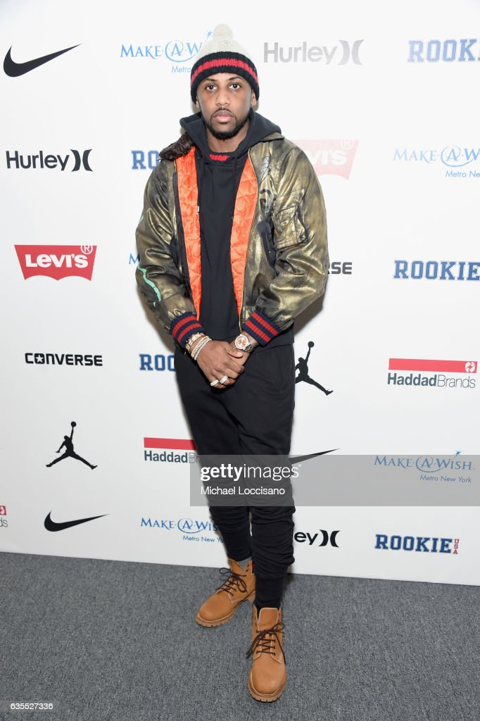 Hip-hop artist Fabolous poses backstage at the Rookie USA fashion show during New York Fashion Week: The Shows at Gallery 3, Skylight Clarkson Sq on February 15, 2017 in New York City.