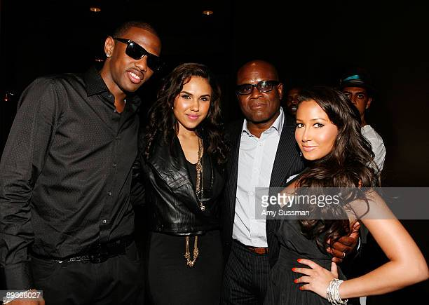 Hiphop artist Fabolous singer Kristinia DeBarge music producer LA Reid and from The Cheetah Girls Adrienne Bailon attend a special screening of...
