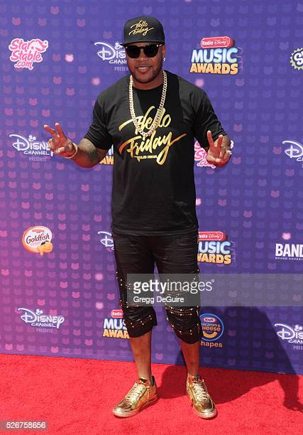 Hip-hop artist Flo Rida arrives at the 2016 Radio Disney Music Awards at Microsoft Theater on April 30, 2016 in Los Angeles, California.