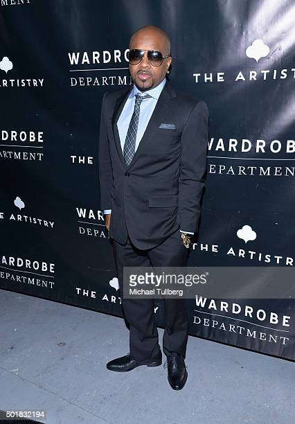 Hiphop artist Jermaine Dupri attends the grand opening of the Wardrobe Department LA store at Wardrobe Department on December 17 2015 in Los Angeles...