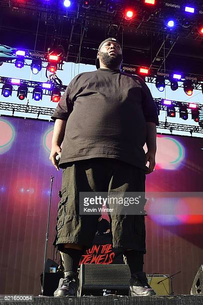 Hiphop artist Killer Mike of Run The Jewels performs onstage during day 2 of the 2016 Coachella Valley Music Arts Festival Weekend 1 at the Empire...