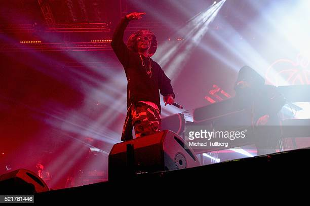 Hiphop artist Layzie Bone of Bone ThugsNHarmonyNHarmony performs onstage with record producer ZHU during day 2 of the 2016 Coachella Valley Music...