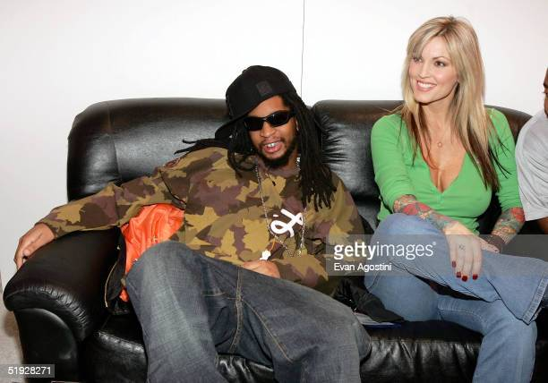 Hiphop artist Lil Jon and adult film star Janine participate the 2005 AVN Adult Entertainment Expo at the Sands Convention Center in the Venetian...