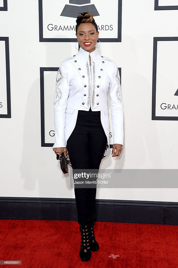 Hip-hop artist MC Lyte attends the 56th GRAMMY Awards at Staples Center on January 26, 2014 in Los Angeles, California.